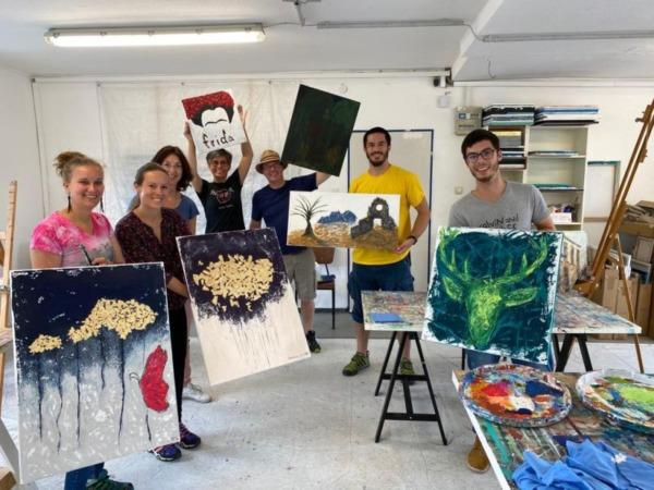 Ute Zander Event Painting